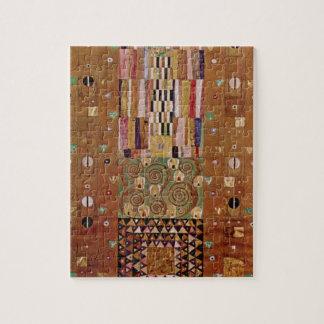 End of Wall, Stoclet Frieze, Klimt, Mosaic Pattern Jigsaw Puzzle