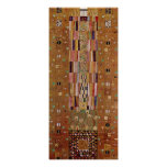 End of Wall, Stoclet Frieze, Klimt, Mosaic Pattern Poster