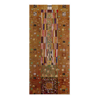 End of Wall, Stoclet Frieze, Klimt, Mosaic Pattern Print