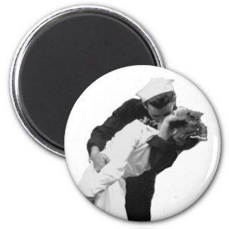 End of War Kiss 2 Inch Round Magnet