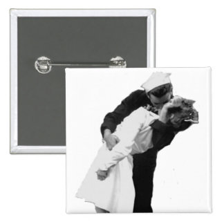 End of War Kiss 2 Inch Square Button
