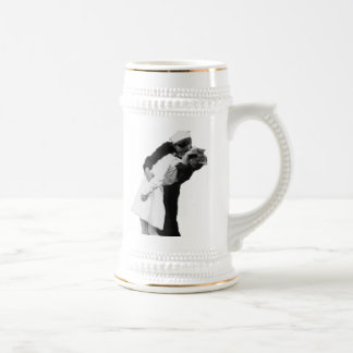 End of War Kiss Beer Stein