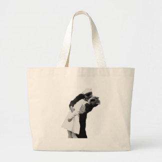 End of War Kiss Large Tote Bag