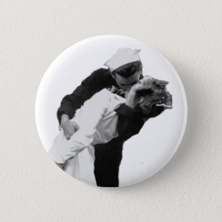End of War Kiss Pinback Button