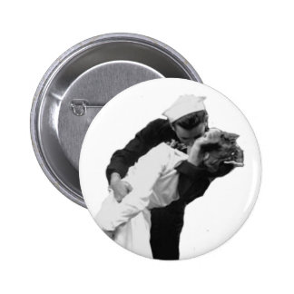 End of War Kiss Pinback Button