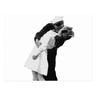 End of War Kiss Postcard