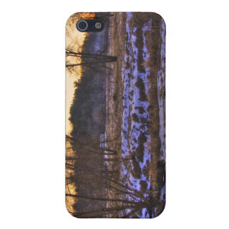 End of Winter Forrest sunset 002 Case For iPhone SE/5/5s