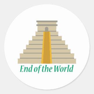 End Of World Classic Round Sticker