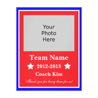End of Year Coach Canvas - Red White and Blue Canvas Prints