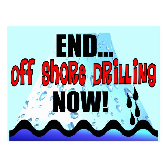 END OFF SHORE DRILLING NOW POSTCARD
