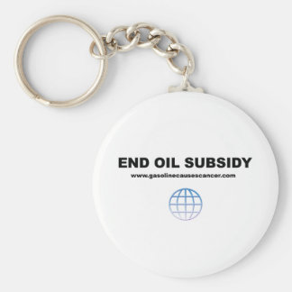 End Oil Subsidies- Free The Planet Basic Round Button Keychain