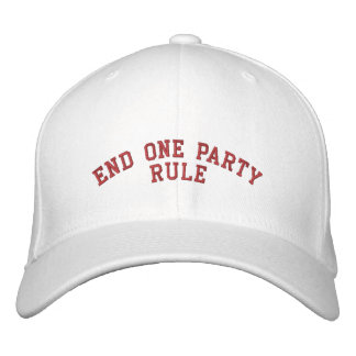 END ONE PARTY RULE EMBROIDERED BASEBALL CAP
