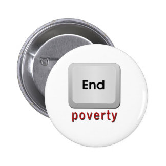 End Poverty Pinback Button