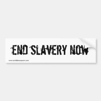 end slavery now bumper sticker