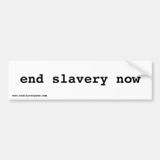 end slavery now car bumper sticker