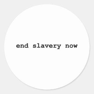 end slavery now classic round sticker