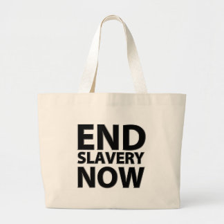 end slavery now large tote bag