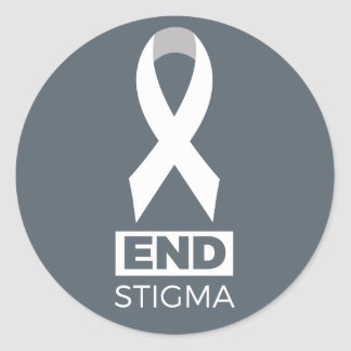 End Stigma for Lung Cancer Classic Round Sticker