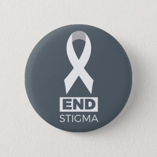 End Stigma for Lung Cancer Pin. Pinback Button