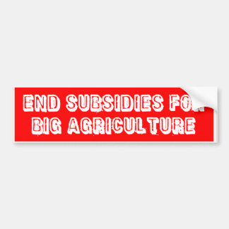 """""""End Subsidies"""" Bumper Sticker (Red)"""
