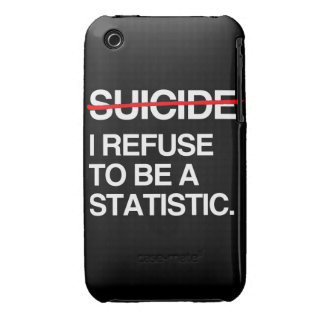 END SUICIDE I REFUSE TO BE A STATISTIC iPhone 3 COVER