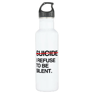 END SUICIDE I REFUSE TO BE SILENT 24OZ WATER BOTTLE