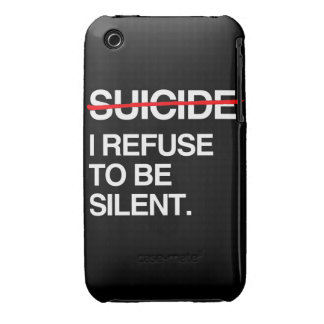 END SUICIDE I REFUSE TO BE SILENT Case-Mate iPhone 3 CASES