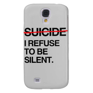 END SUICIDE I REFUSE TO BE SILENT GALAXY S4 CASE