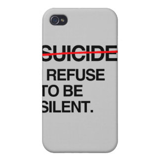 END SUICIDE I REFUSE TO BE SILENT iPhone 4/4S COVER