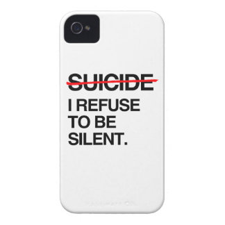 END SUICIDE I REFUSE TO BE SILENT iPhone 4 COVERS