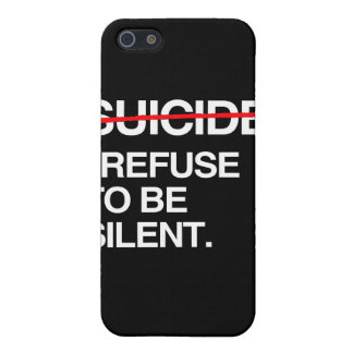 END SUICIDE I REFUSE TO BE SILENT iPhone 5 CASE