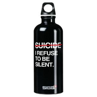 END SUICIDE I REFUSE TO BE SILENT SIGG TRAVELER 0.6L WATER BOTTLE