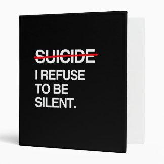 END SUICIDE I REFUSE TO BE SILENT VINYL BINDER