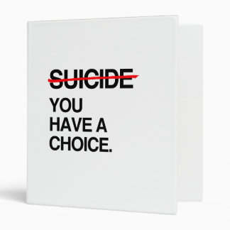 END SUICIDE YOU HAVE A CHOICE 3 RING BINDER