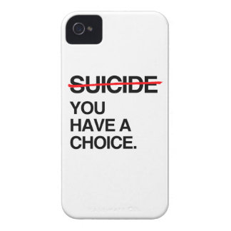 END SUICIDE YOU HAVE A CHOICE iPhone 4 CASES