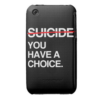 END SUICIDE YOU HAVE A CHOICE iPhone 3 COVERS