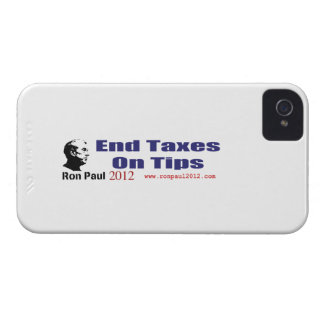 End Taxes On Tips Vote Ron Paul in 2012 iPhone 4 Cover