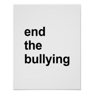 end the bullying poster