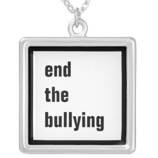 End the Bullying Square Necklace