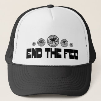 End The Fed 2 Black Trucker Hat
