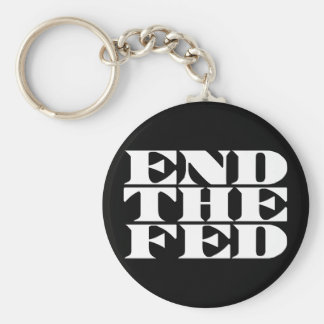 End The Fed Basic Round Button Keychain