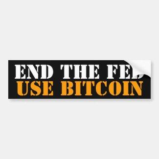 END THE FED Bitcoin Litecoin Liberty Bumper Sticker