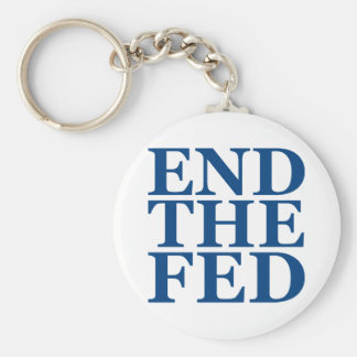 End the Fed - Blue Keychain