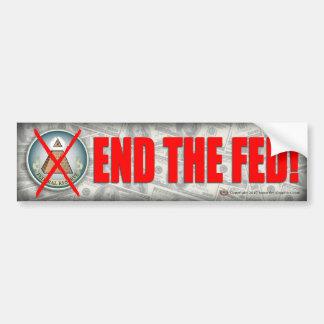 End the Fed Bumpersticker Car Bumper Sticker