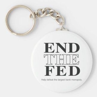 End The Fed Defeat the Largest Bank Monopoly Basic Round Button Keychain