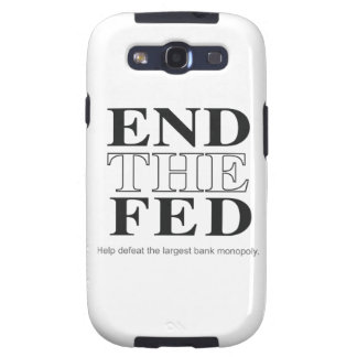 End The Fed Defeat the Largest Bank Monopoly Samsung Galaxy S3 Covers