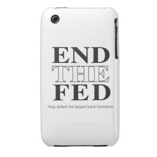 End The Fed Defeat the Largest Bank Monopoly Case-Mate iPhone 3 Case