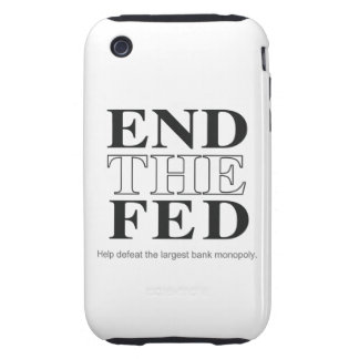 End The Fed Defeat the Largest Bank Monopoly iPhone 3 Tough Case