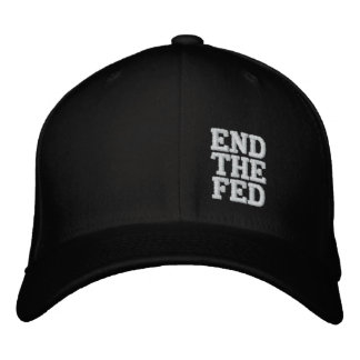 END THE FED EMBROIDERED BASEBALL CAP