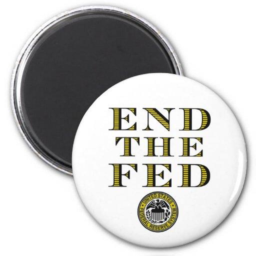 End The Fed Federal Reserve Fridge Magnet